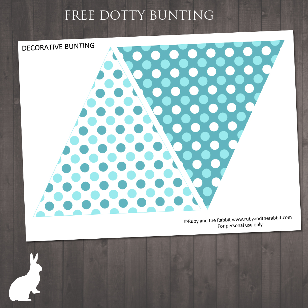 graphic regarding Dotty Paper Printable identified as No cost Dotty Blue Bunting No cost Get together Invites as a result of Ruby and