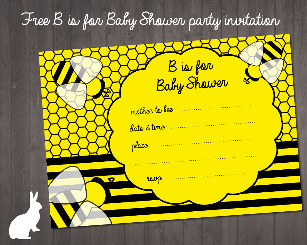 FREE Bumble Bee Baby Shower Invitation | Free Party Invitations by ...