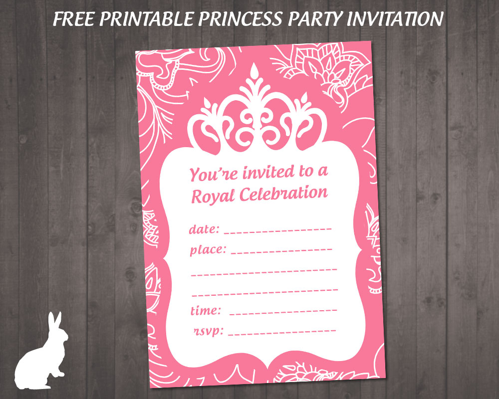FREE Princess Party Invitation | Free Party Invitations by Ruby ...