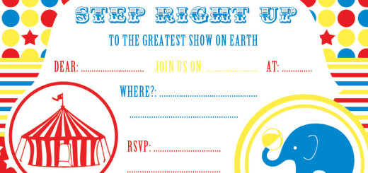 free circus party invitation