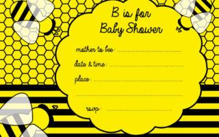 Free bee baby shower invitaiton