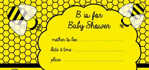 Free bee baby shower invitaiton