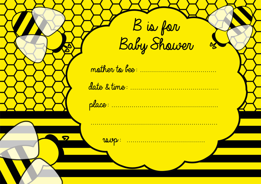 free bumble bee baby shower invitation free party invitations by