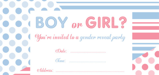 picture relating to Free Printable Gender Reveal Invitations known as Cost-free Social gathering Invites through Ruby and the Rabbit