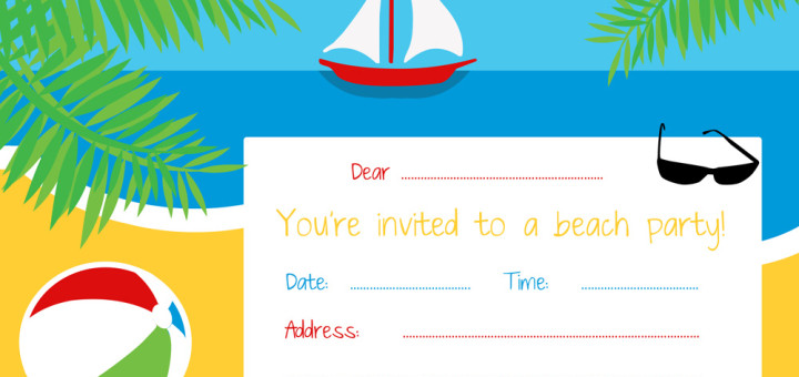 Free beach party invitation