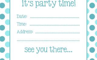 Free spotty party invitations