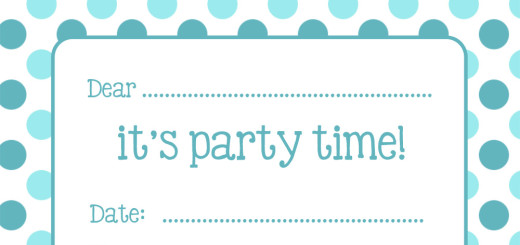 Free spotty party invitations