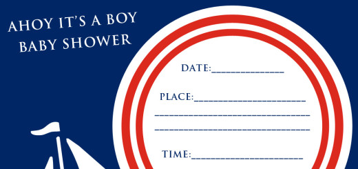 Free ahoy its a boy baby shower party invitation