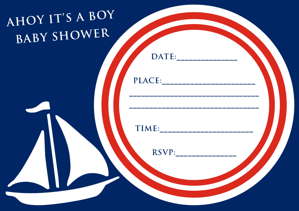 free party invitation ahoy its a boy baby