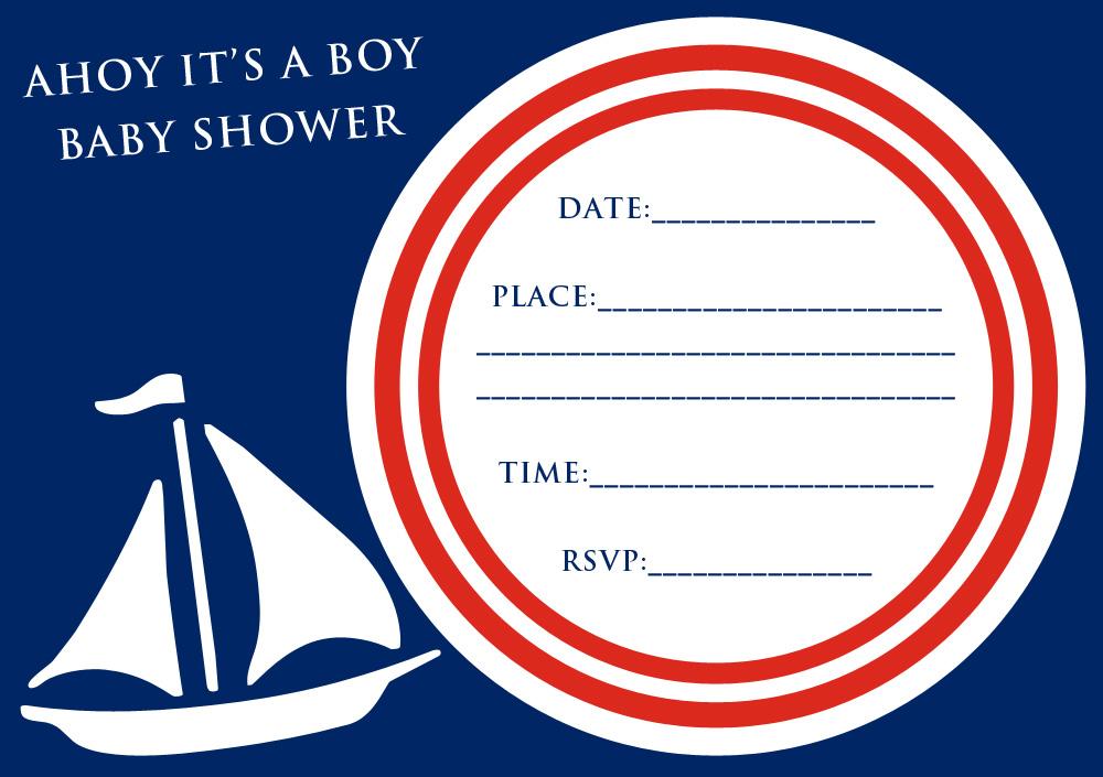 baby shower invitation ahoy it s a boy free party invitations