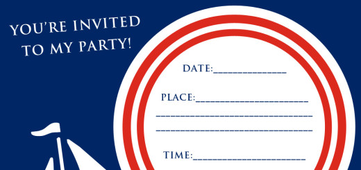 Free nautical party invitation