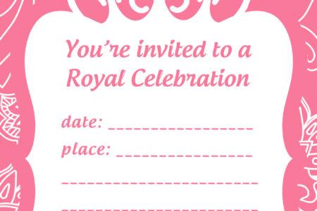 free princess party invitation