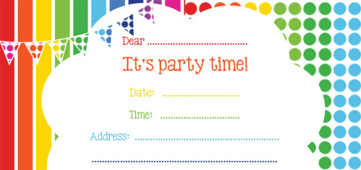 FREE Space Rocket Party Invitation – Party Invitations for Free