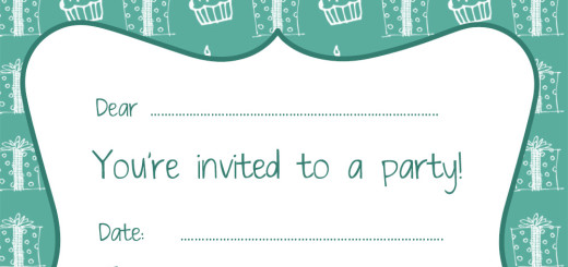 free party invitations by ruby and the rabbit, Party invitations