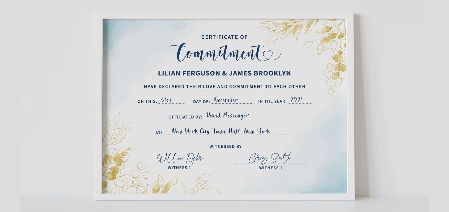 Editable or Printed Certificates