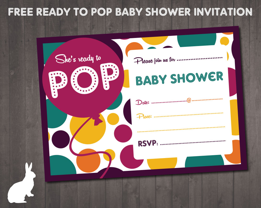 This is a picture of Ready to Pop Free Printable with regard to shower invitations